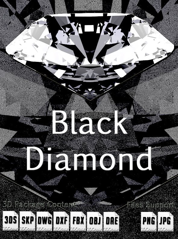 3D Black Diamond - 3DOcean Item for Sale