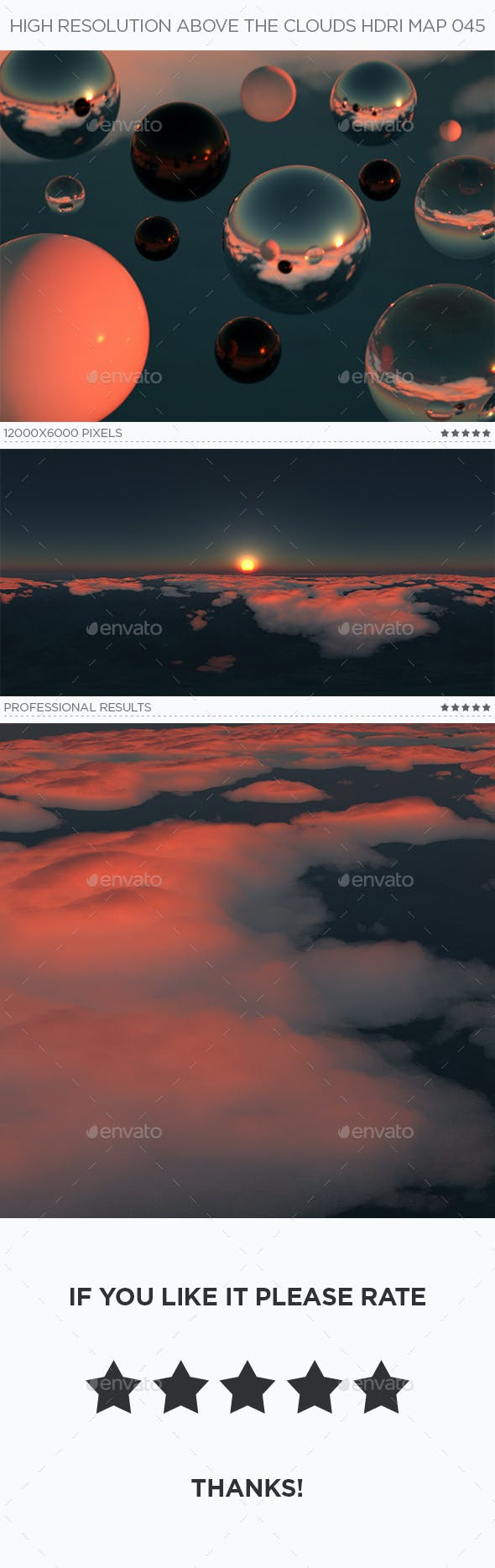 High Resolution Above The Clouds HDRi Map 045 - 3DOcean Item for Sale