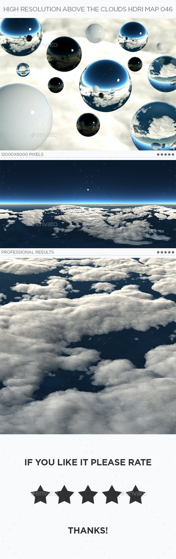 High Resolution Above The Clouds HDRi Map 046 - 3DOcean Item for Sale