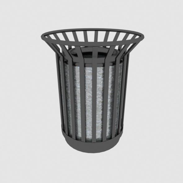 Metallic trash can - 3DOcean Item for Sale