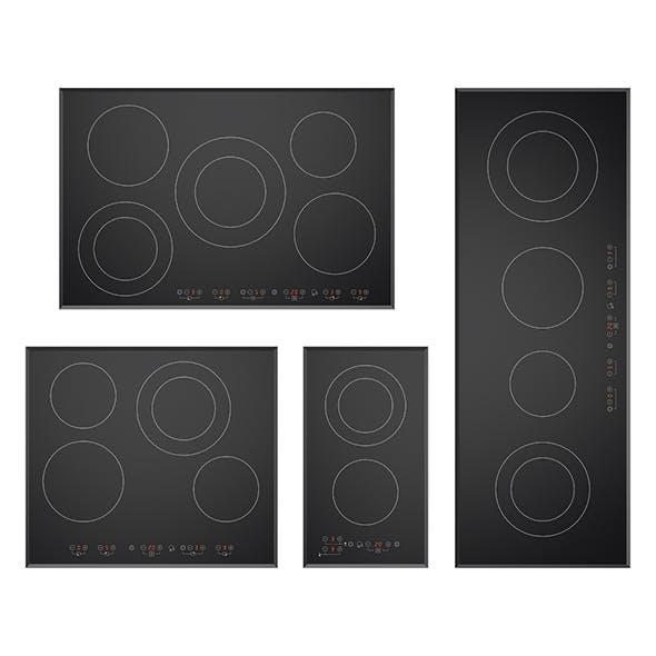 Ceramic cooktops - 3DOcean Item for Sale