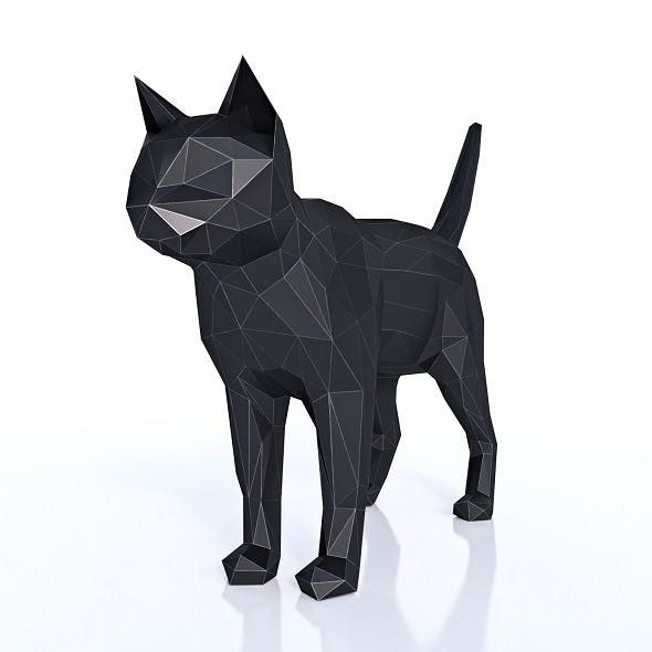 Cat Low Poly - 3DOcean Item for Sale