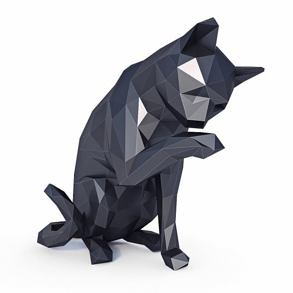 Cat Low Poly v1 - 3DOcean Item for Sale