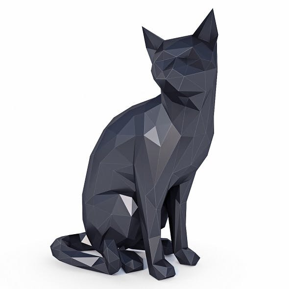 Cat Low Poly v2 - 3DOcean Item for Sale