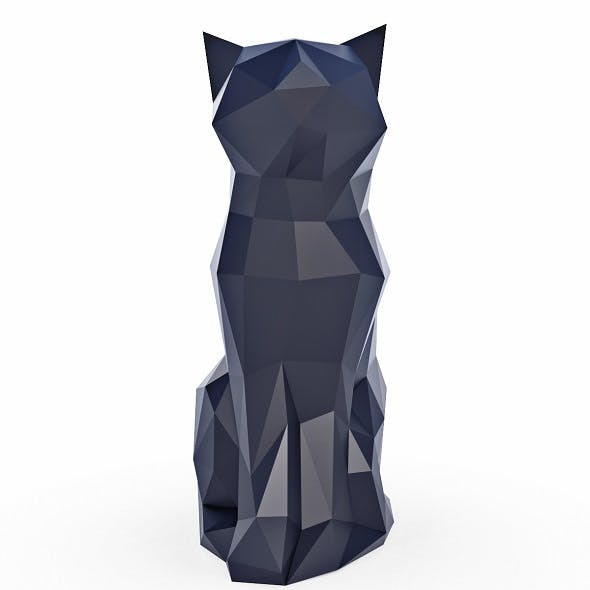 Cat Low Poly v4 - 3DOcean Item for Sale