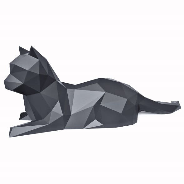 Cat Low Poly 6 - 3DOcean Item for Sale