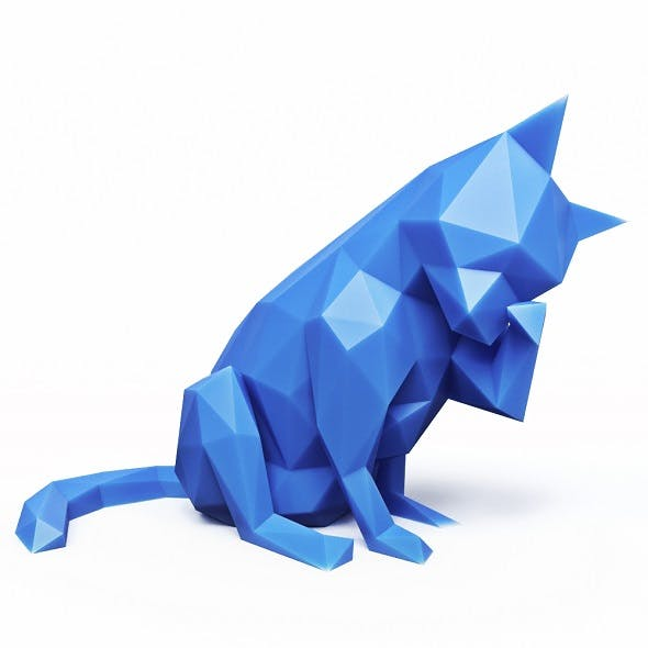 Cat Low Poly 7 - 3DOcean Item for Sale
