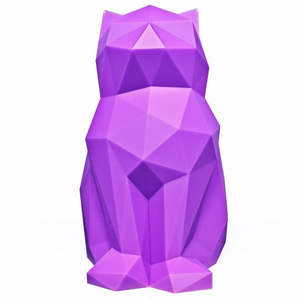 Cat Low Poly 8 - 3DOcean Item for Sale