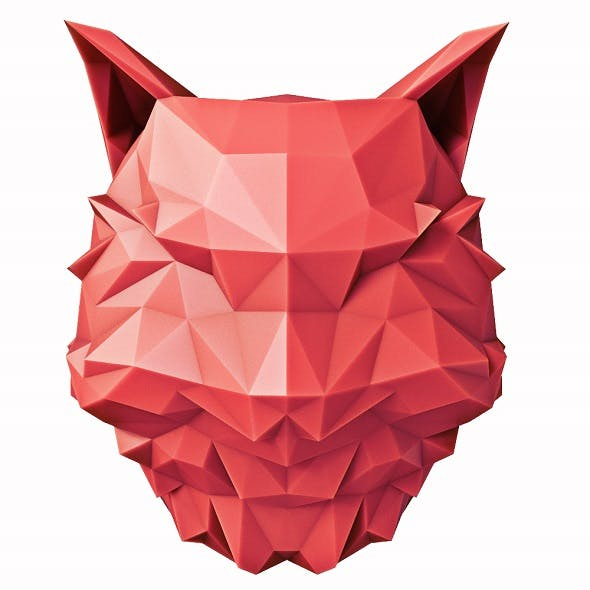 Cat Head Low Poly - 3DOcean Item for Sale