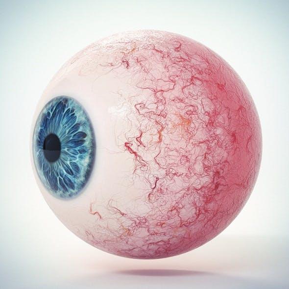 Eye Blue 1 Low Poly