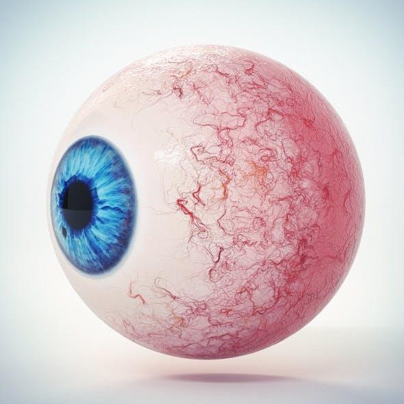Eye Blue 2 Low Poly