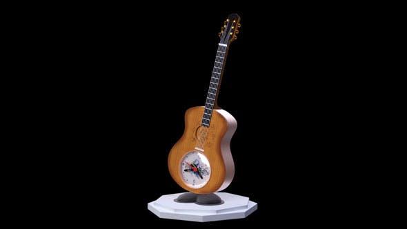 guitar alarm clock - 3DOcean Item for Sale