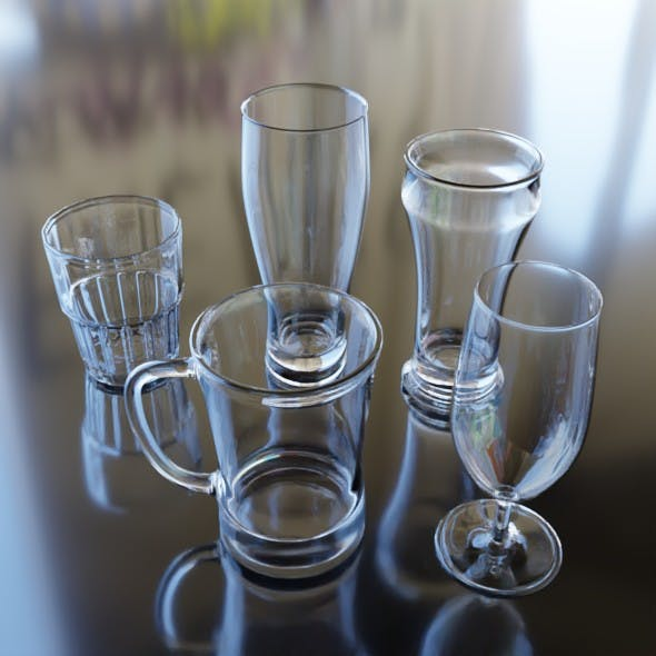 Glass set 5 Pcs.