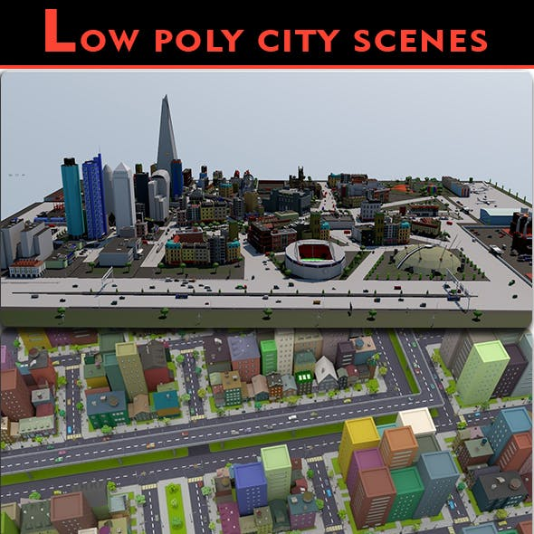 Low poly city pack Vol.1.1