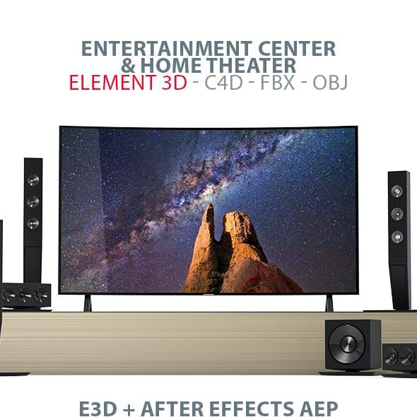 Entertainment Center & Home Theater E3D Model