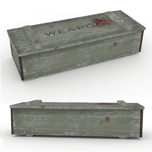 Low poly Army Box Military box
