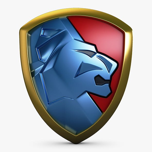 Lion Shield Insignia v 2
