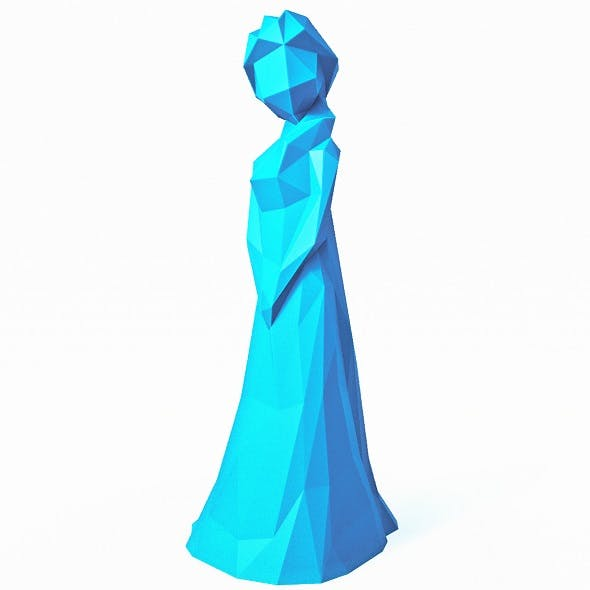 Elsa Disney Low Poly