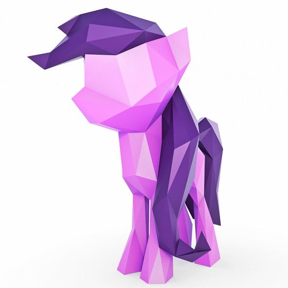 Little Pony Low Poly