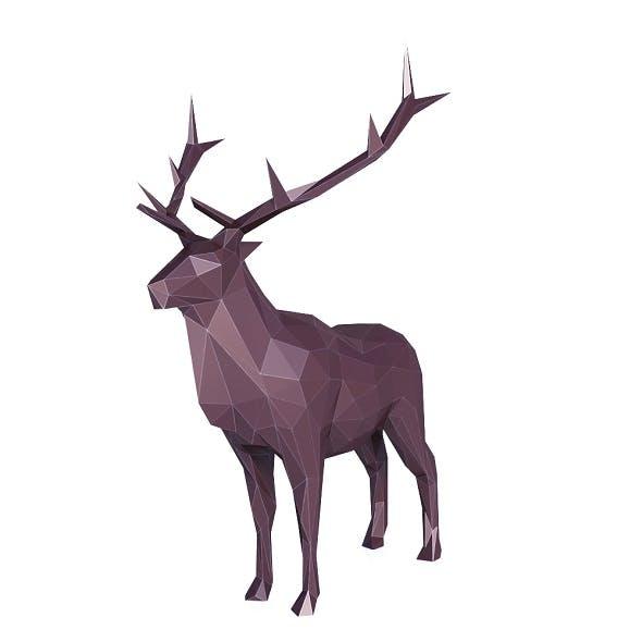 Elk Low Poly - 3DOcean Item for Sale