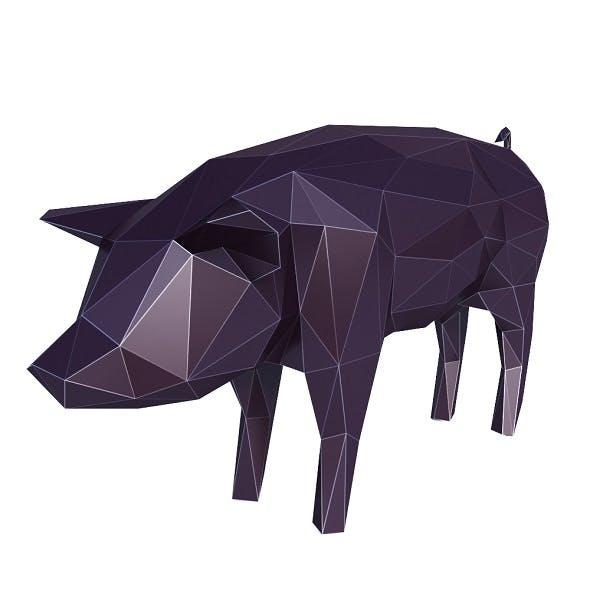 Pig Low Poly v1 - 3DOcean Item for Sale