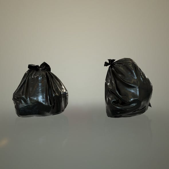 Pastic Garbage Bags - Low Poly - 3DOcean Item for Sale