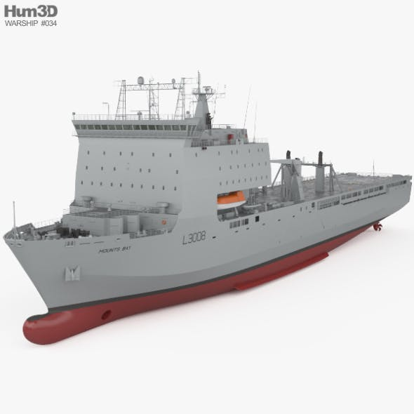 Bay-class landing ship - 3DOcean Item for Sale