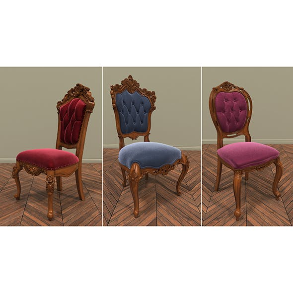 Classic Chair 3 - 3DOcean Item for Sale