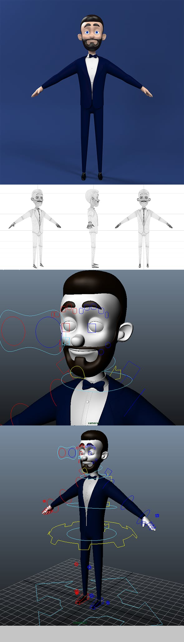 Josh Character Rigged - 3DOcean Item for Sale