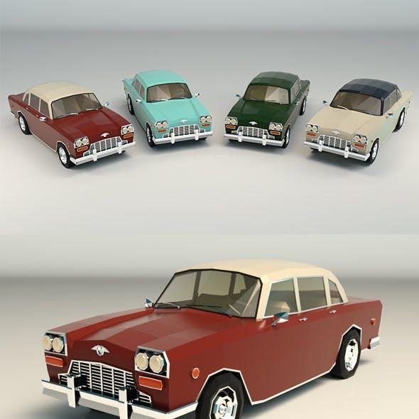 Low Poly Sedan Car 05