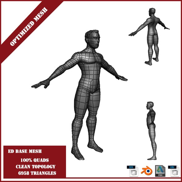 Ed Base Mesh - 3DOcean Item for Sale