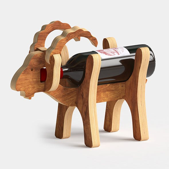 "Wine Stand ""Goat"" - 3DOcean Item for Sale"