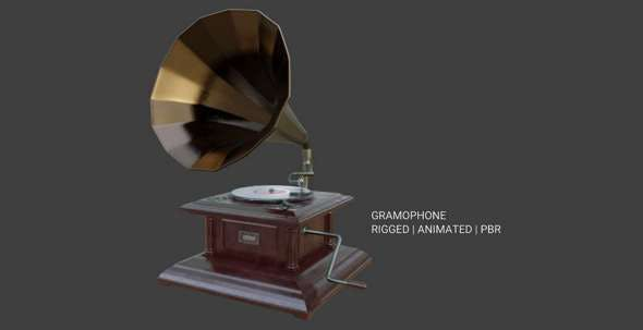 Gramophone Phonograph - 3DOcean Item for Sale