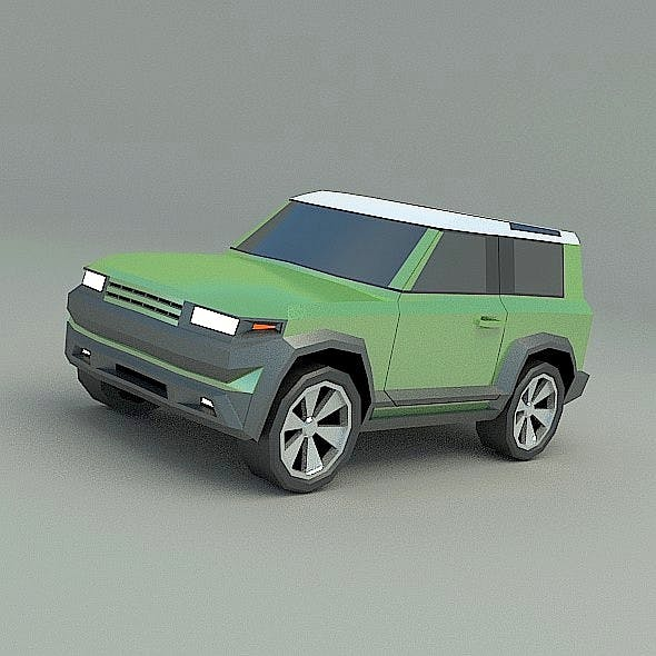 Lowpoly generic SUV vehicle