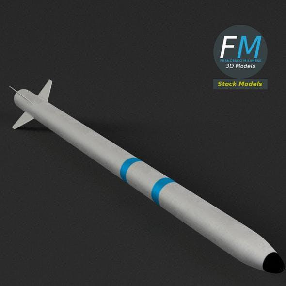 AIM-132 ASRAAM Missile (PBR, UV-textured)