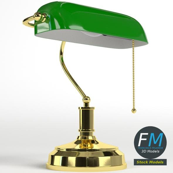 Banker lamp - 3DOcean Item for Sale