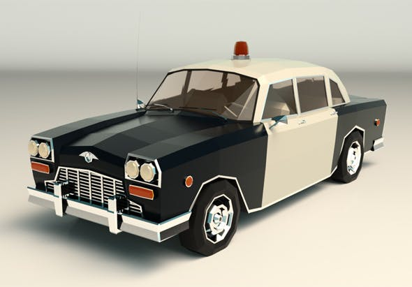 Low Poly Police Car 03 - 3DOcean Item for Sale
