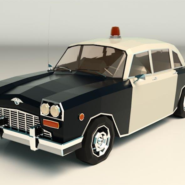 Low Poly Police Car 03