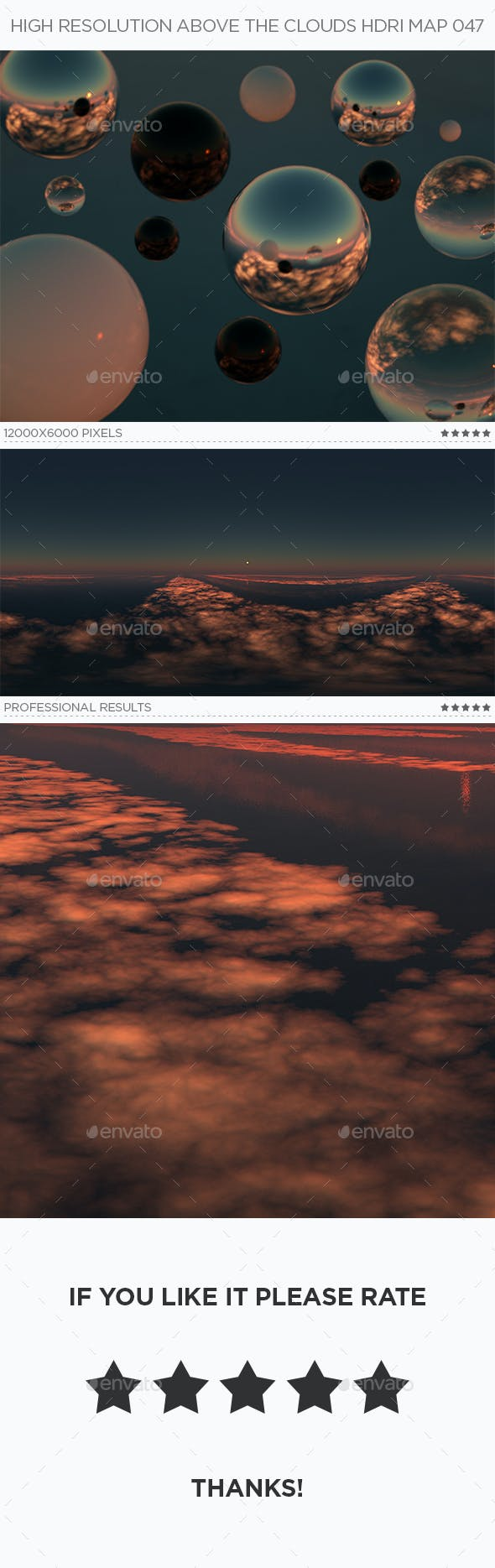 High Resolution Above The Clouds HDRi Map 047 - 3DOcean Item for Sale
