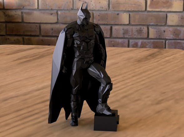 BATMAN DARK KNIGHT LOW POLY - 3DOcean Item for Sale