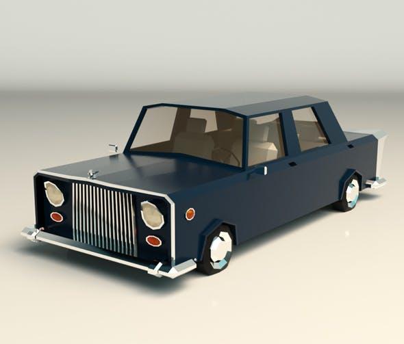 Low Poly Sedan Car 06 - 3DOcean Item for Sale
