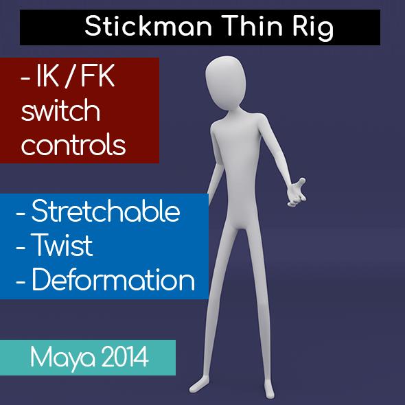 Stickman Thin Rig
