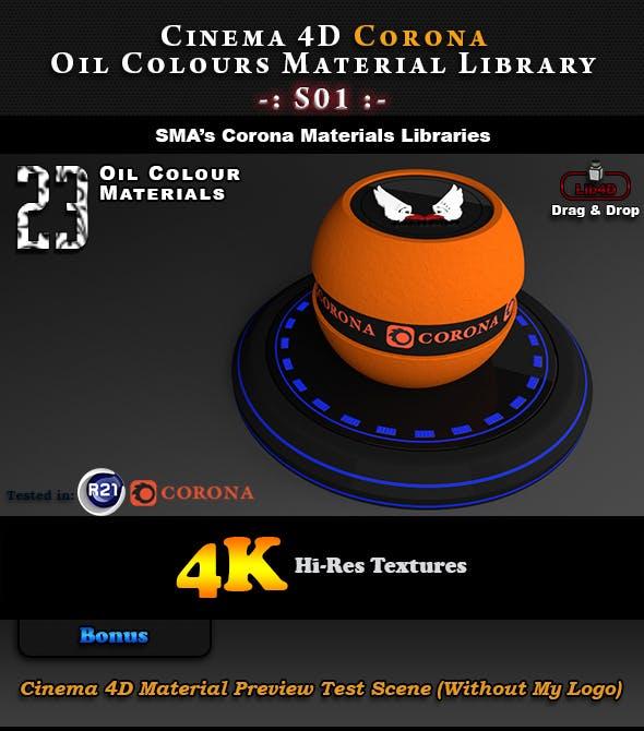 23 x Corona Oil Colour Materials S01 for Cinema 4D - 3DOcean Item for Sale