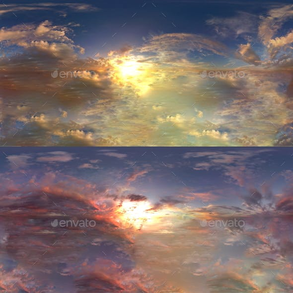 HDRI Skydomes - Vanilla Evening