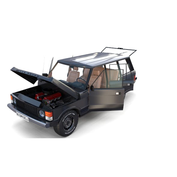 Range Rover Classic with chassis and interior v3