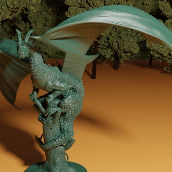 Dragon on Broken Tree