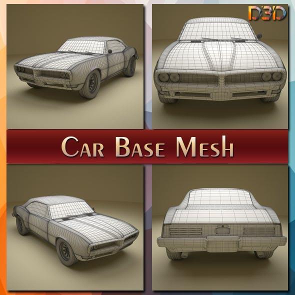Car Base Mesh - 3DOcean Item for Sale