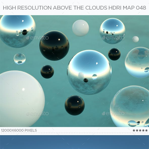 High Resolution Above The Clouds HDRi Map 048