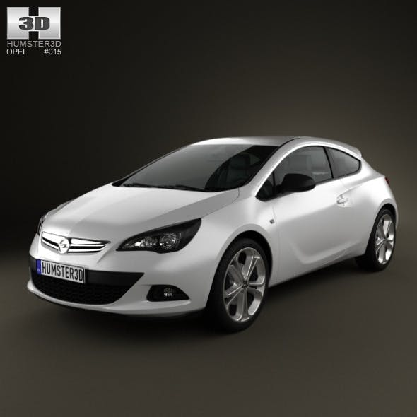 Opel Astra GTC 2012 - 3DOcean Item for Sale