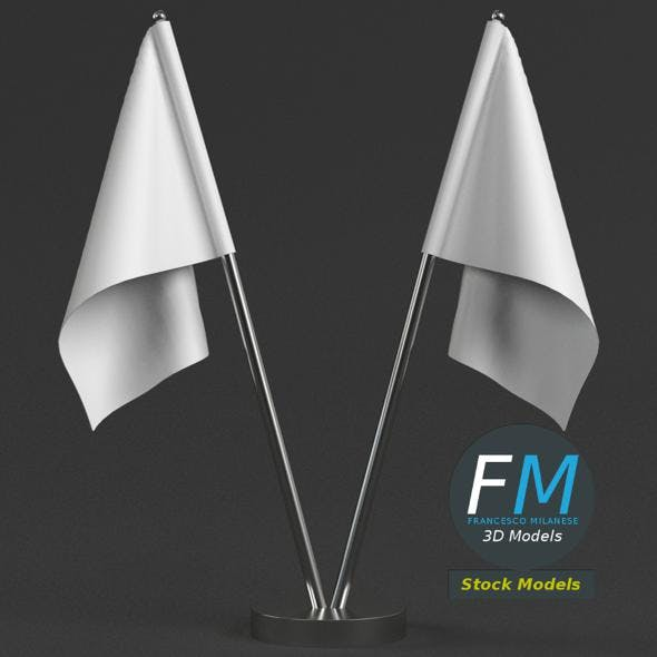 Table top flags with stand